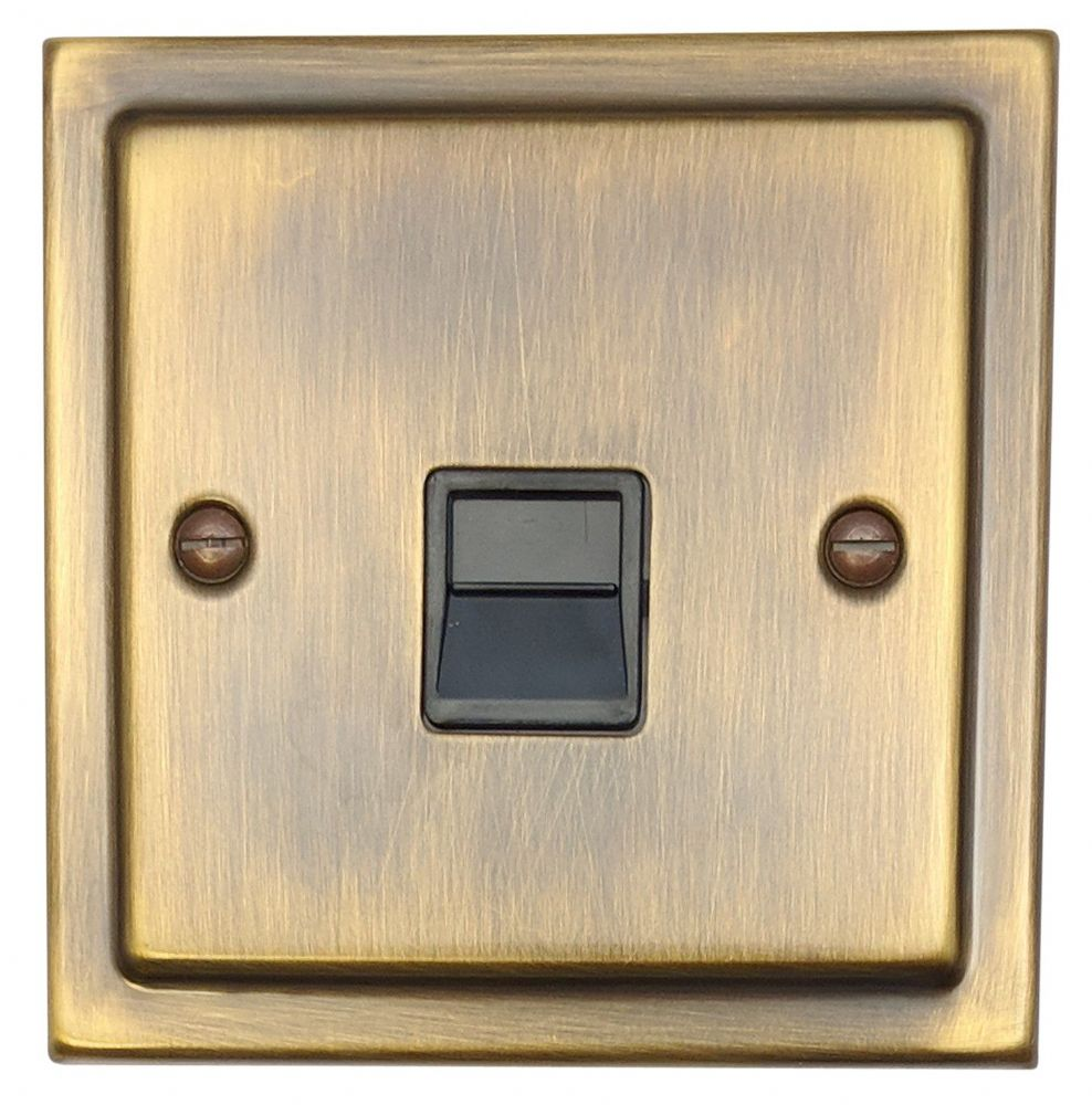 G&H TAB34B Trimline Plate Antique Bronze 1 Gang Slave BT Telephone Socket